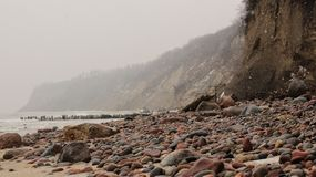 Steine des Herbstmeeres stockbilder
