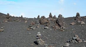 Steine, die auf einander liegen Stockbild