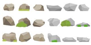 Steine, ein Satz Steine lizenzfreie abbildung