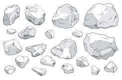 Steine eingestellt Lizenzfreies Stockfoto
