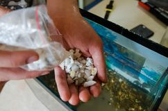 Steine für das Aquarium lizenzfreies stockbild