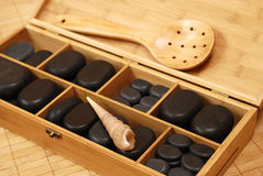 Steine für Massage Stockbilder