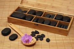Steine für Massage Stockfoto
