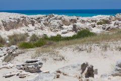 Steine in Formentera-Strand Stockbilder