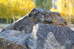 Steine im Stadtpark Lizenzfreies Stockbild