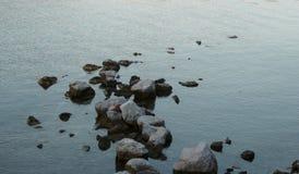 Steine im Wasser Stockbild