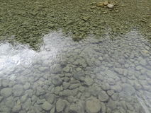 Steine im Wasserfallfluß in Spanien Stockfoto
