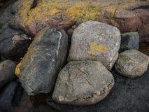 Steine am Strand Stockbild