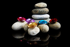 Steine u. Perlen Stockbild