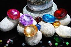 Steine u. Perlen Stockfotografie