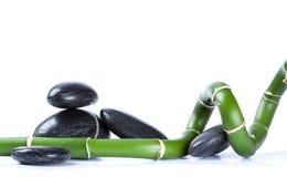 Steine und Bambus Lizenzfreies Stockfoto