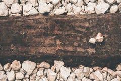 Steine und Holz - abstraktes Bild Lizenzfreie Stockfotografie