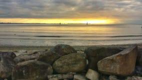 Steine und Sonnenuntergang Stockbild