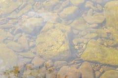 Steine und Wasseroberfläche Lizenzfreies Stockfoto