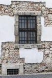 Steineinfassung eines historischen Gebäudes in Budapest, Ungarn Stockbild