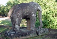 Steinelefant bei Prasat Prea lizenzfreies stockbild