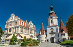 Steiner Tor, a 15th century gate in Krems an der Donau, the Wachau valley of Austria. Steiner Tor, a 15th century gate in the city of Krems an der Donau, the Stock Images