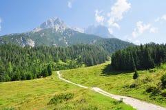 Steinernes Meer, bergpanorama, Saalfelden, Pinzgau, Salzburg, Österrike Royaltyfria Bilder