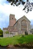 Steinfassaden-Kirche in Ashprington Devon England Lizenzfreies Stockfoto