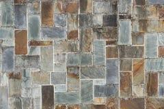 Steinfliesenbeschaffenheitsbacksteinmauer Stockbild
