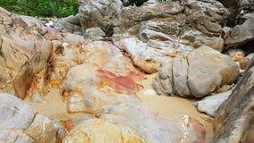 Steinformationam Bundelauf Koh Lanta - Thailand Worldtrip stock foto's