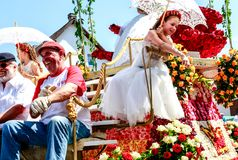 On every even-numbered year, the Bad Nauheim suburb Steinfurth, the oldest rose village in Germany, honours the rose by celebratin. STEINFURTH, GERMANY-JULY 15 royalty free stock images