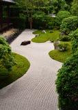 Steingarten in Nyoshin-jitempel, Kyoto Japan Lizenzfreies Stockfoto