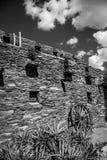 Steingebäude gelegen in Grand Canyon stockbild