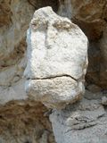 Steingesicht auf den Felsen Lizenzfreies Stockfoto