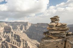 Steingestaltpyramide Stockfotos