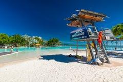 STEINHAUFEN, AUSTRALIEN - 27. MÄRZ 2016 Tropische Schwimmenlagune auf t Stockbild