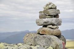 Steinhaufen in Jotunhiemen Stockfoto