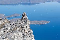Steinhaufen oben auf Berg Stockbilder