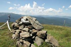 Steinhaufen in Pyrenees Stockfotografie