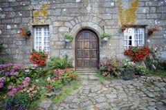 Steinhaus in Bretagne, Frankreich Stockbild