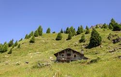 Steinhaus Cuneaz (das Aostatal - Nord-Italien) Stockbild