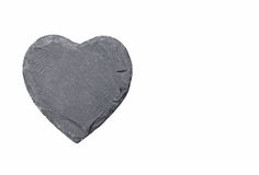 Steinherz auf weißem Hintergrund lizenzfreies stockbild