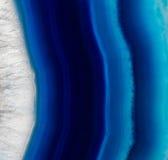 Steinhintergrund des blauen Achatkristalles Lizenzfreie Stockfotografie