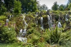 Steinhoefer siklawa jest częścią wodne kaskady w góra lodowa parku Ge Zdjęcia Royalty Free