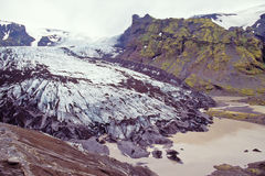 Steinholtsjokull glacier, Iceland. Steinholtsjokull an outlet glacier on the northern margin of Eyjafjallajokull, Iceland Royalty Free Stock Images
