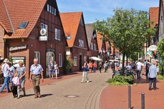 Steinhude в более низкой Саксонии, Германии, Европе Стоковые Фотографии RF
