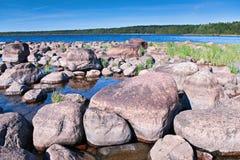 Steinige Küste Stockfotos