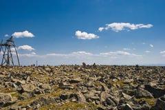 Steinige Oberfläche stockfoto
