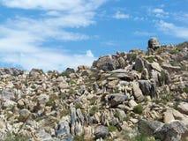 Steinige Steigung Stockfoto