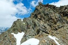 Steiniger Felsen der Alpe Lizenzfreies Stockbild