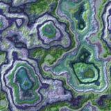 Steiniger nahtloser Musterhintergrund des Marmorachats - grüne Farbe des blauen purpurroten Veilchens des Perlenblaus mit rauer O stockbild