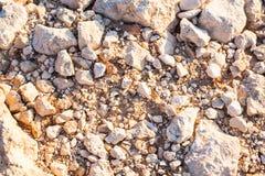 Steiniger Seeuferhintergrund Stockfotografie