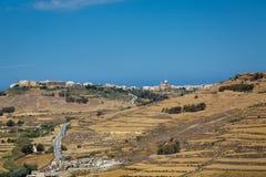 Steiniges Land in Malta Stockbild