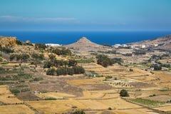 Steiniges Land in Malta Lizenzfreie Stockfotografie