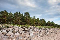 Steiniges Ufer der Ostsee Lizenzfreie Stockbilder